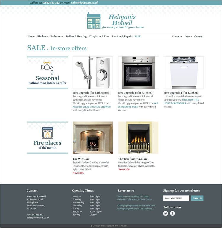 Helmanis & howell Sale page