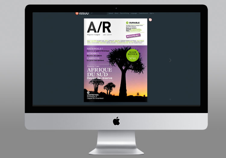 AR Magazine website