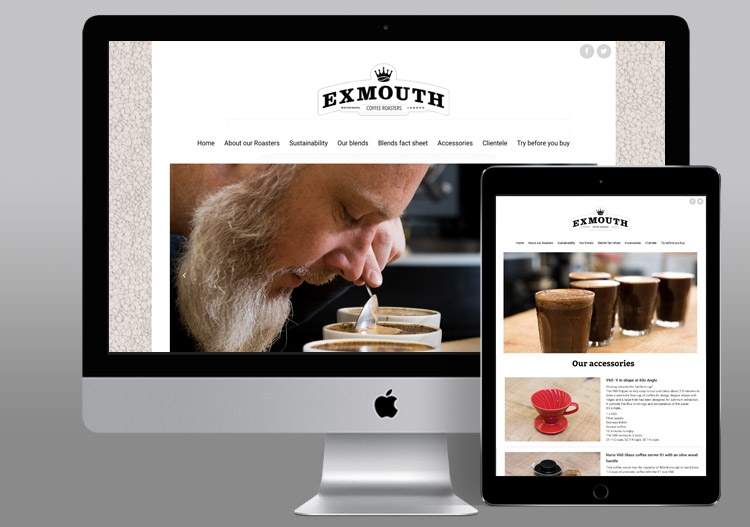 Exmouth Coffee Roasters homepage